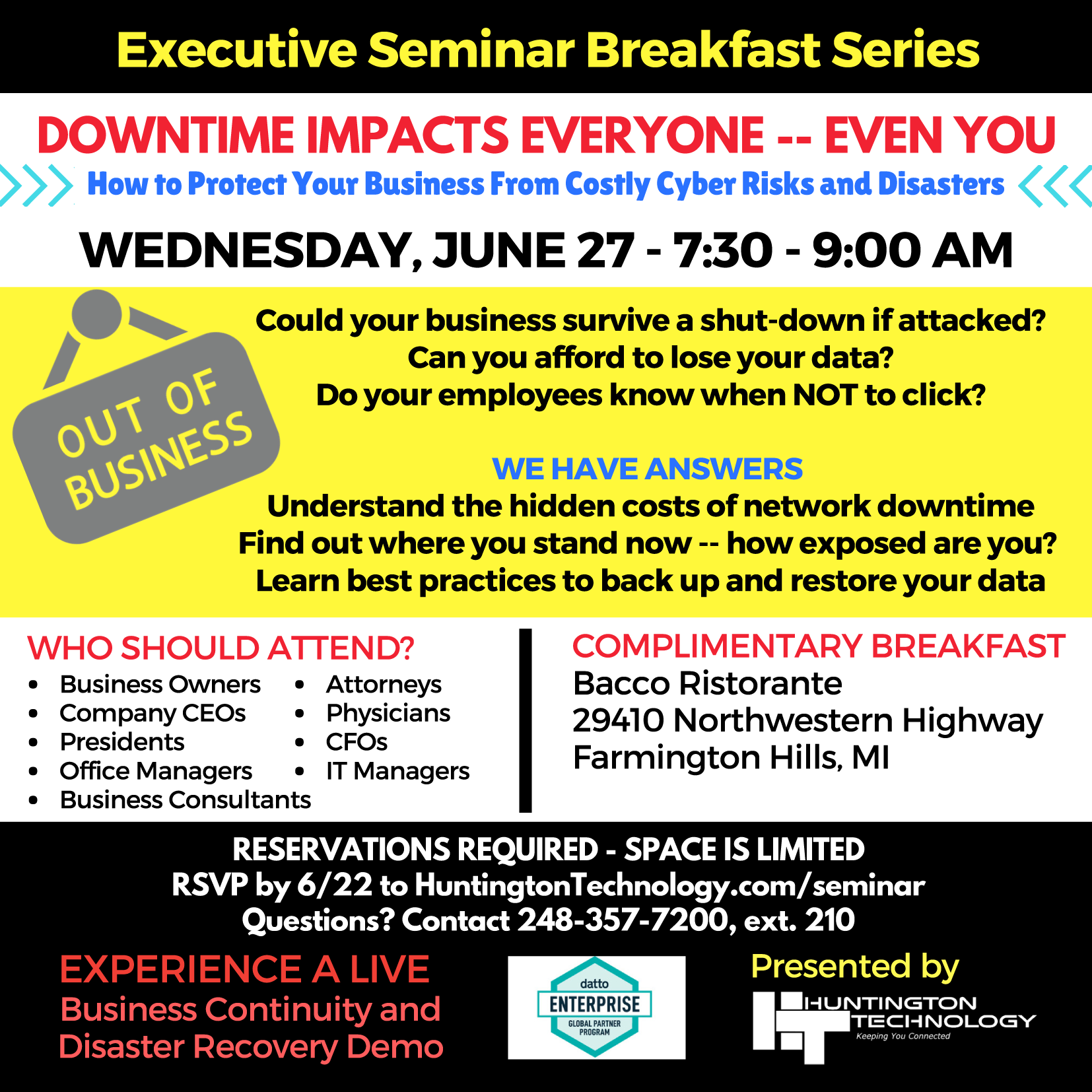 June 2018 - Executive Seminar Breakfast Series: Cyber